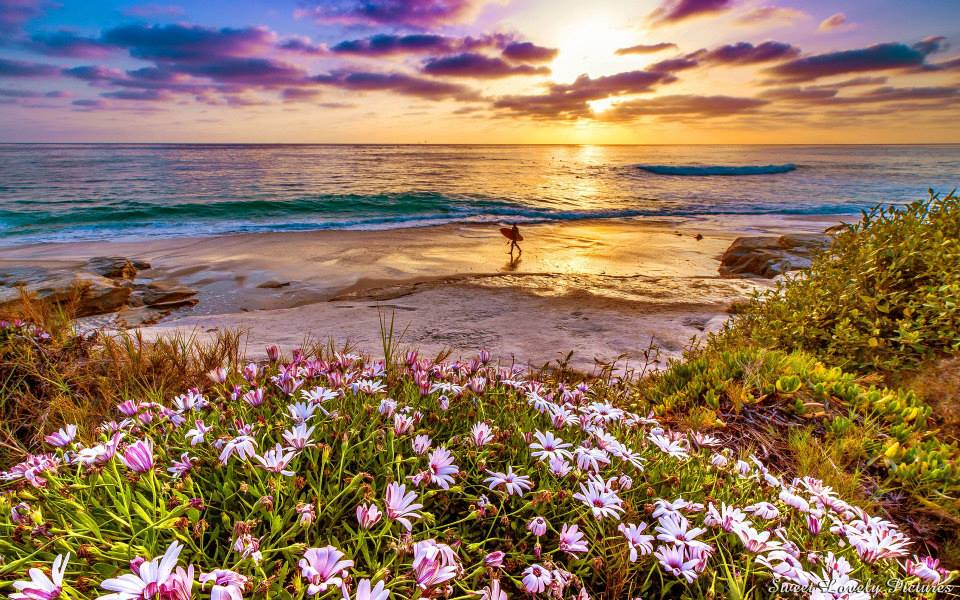lever du soleil à la plage