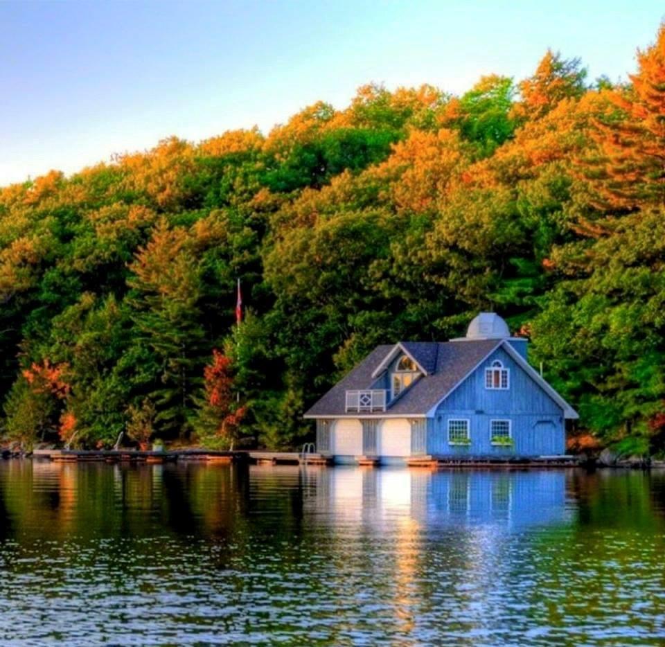 cabane au bord de l'eau beaute de la nature